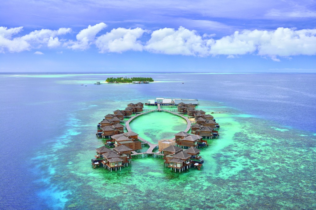 Maldivas - Jumeirah Dhevanafushi - Aerial View of the resort1